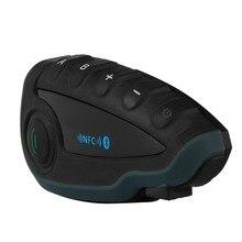 1pcs V8 Motorcycle Helmet Intercom NFC Remote Control Bluetooth Interphone Headset 5 Rider 1200M Full Duplex talking
