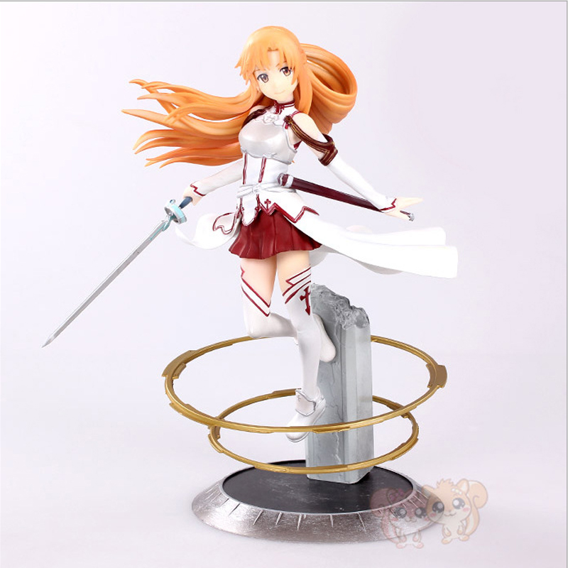HOT Anime Sword Art Online Asuna Aincrad 1/8 Scale Figure Pre-painted Model Toy Gift free shipping japanese anime sword art online asuna pvc action figure toy 22cm cute aincrad figure sofg003