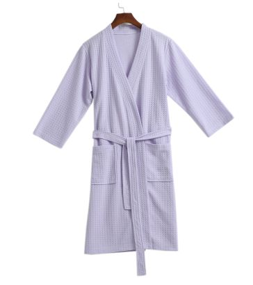 03d3a80cb3 Free shipping women s cotton Bathrobe kimono hotel bathrobe spring and summer  Waffle sweat evaporate couples bath robe-in Robes from Women s Clothing    ...