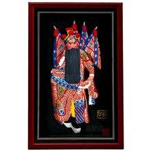Decoración Artes artesanía regalos de la muchacha casarse Huang Zhong, tres Reinos figura, marco de imagen de La Ópera de pekín, decoración de la pared,