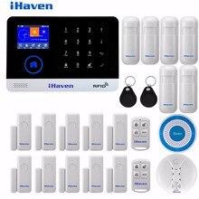 iHaven EN RU ES PL DE Switchable Wireless Home Security WIFI 3G GPRS GSM Alarm system
