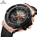 MEGIR Official 2017 Luxury Chronograph Men Military Sports Watches Soldier Quartz Wristwatches Leathter Strap Relogio Luminous