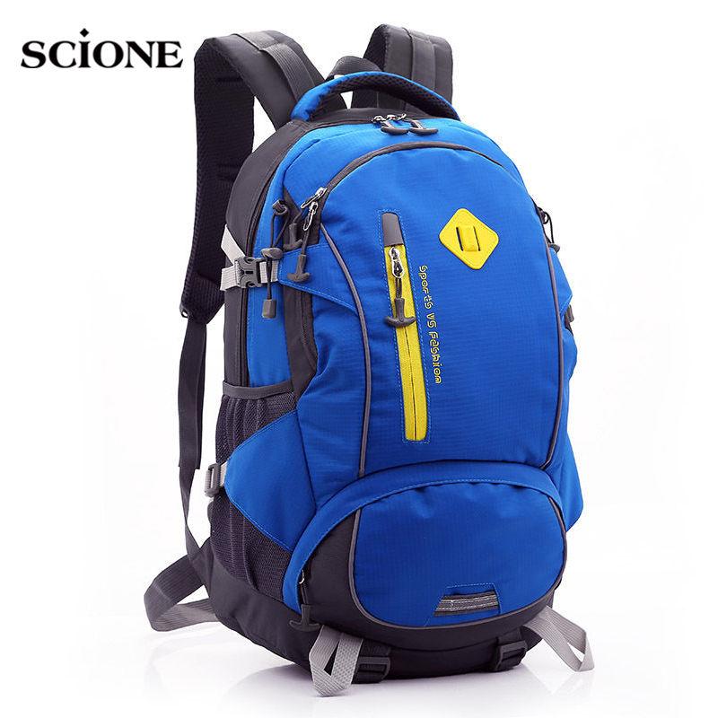 2017 Outdoors Travel Backpack Women Men Waterproof Nylon Laptop Rucksack Hiking Camping Climbing Sports Bags Mochila XA544-1YL