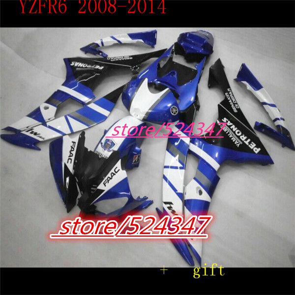 Hey-Pour YZF 600 R6 2008 2009 2010 2011 2012 2013 2014 YZF600R 08-14 Kit de Carénage de moto En Plastique YZFR6 08-14 pour Yamaha