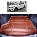 free shipping fiber leather car trunk mat cargo mat  for toyota corolla e170 2013-2016