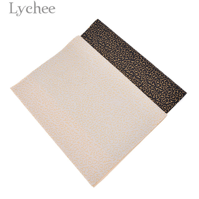 US $1 59 20% OFF|Lychee 21x29cm A4 Embossed PVC Leather Fabric High Quality  Pattern Synthetic Leather DIY Material For Handbag Garments-in Synthetic