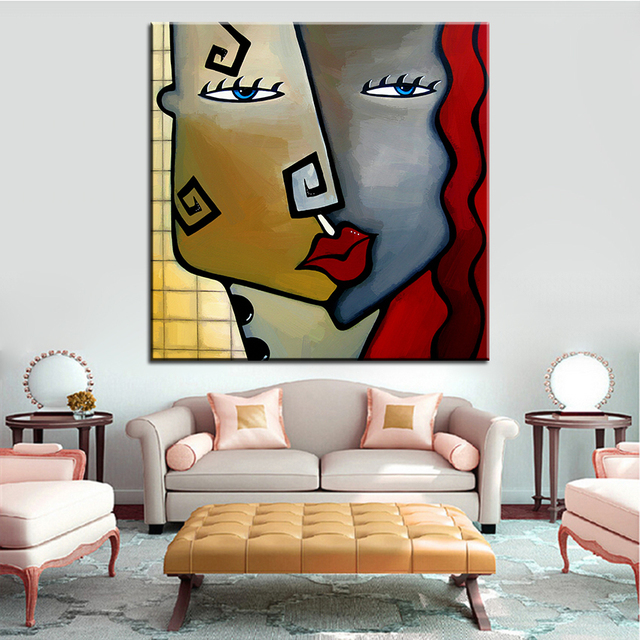 Large Size Printing Oil Painting Checkered Past Wall Painting Steampunk  Wall Art Picture For Living Room
