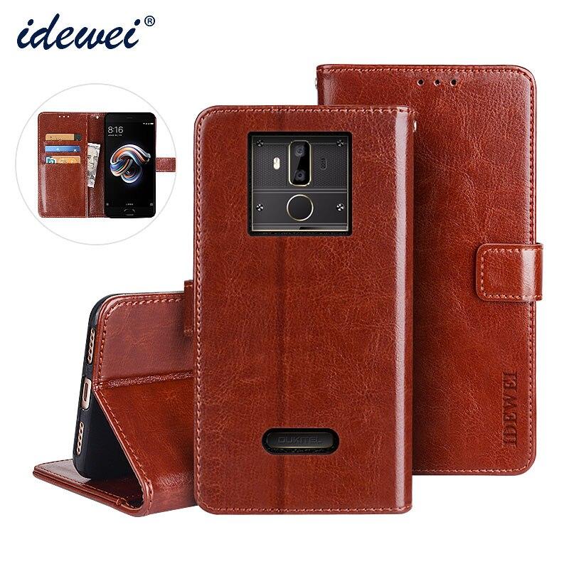 Oukitel K7 caso cubierta de lujo de la caja del teléfono de cuero para Oukitel K7 Flip protector cartera caso 6,0