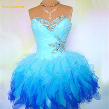 2018 New In Stock Sweetheart Organza Cheap Homecoming Dresse
