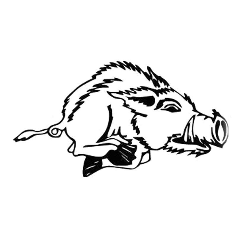 20Х10.9см охотник кабан свинья Bardian винил автомобиля стикер мотоцикла наклейка черный серебро С6-2363