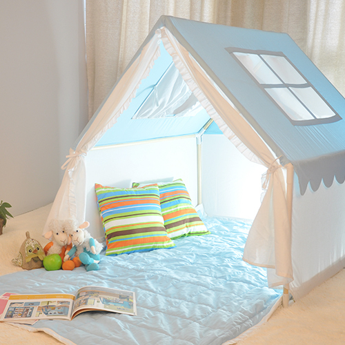 Blue playhouse tent kids tents 100% cotton child tent small sleeping tent house : child tents - memphite.com