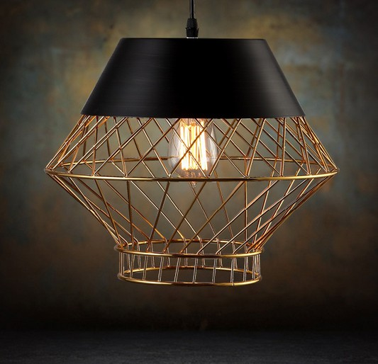 Loft Style Iron Cage Droplight Industrial Vintage Pendant Light Fixtures For Dining Room Edison Hanging Lamp Lamparas Colgantes loft style iron droplight edison vintage pendant light fixtures for dining room hanging lamp indoor lighting lamparas colgantes