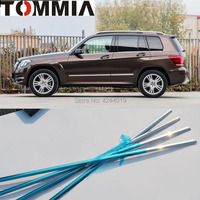 TOMMIA 6pcs Stainless Steel Chrome Bottom Window Frame Sill Trim For Benz GLK Car Accessories
