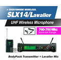 Free Shipping! SLX14 SLX1 UHF Professional Wireless Microphone System With Bodypack Lapel Lavalier Clip Mic Band Q4 740-760Mhz