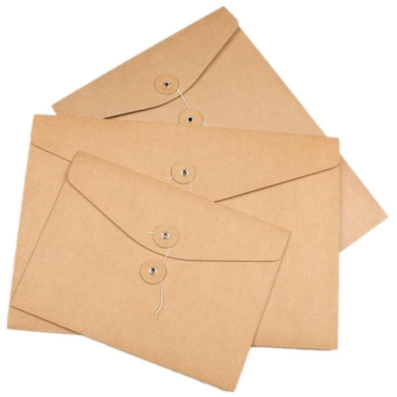 20 pièces blanc A4 A5 enveloppe verticale Kraft fichier enveloppe horizontale papier sac organisateur Document affichage dossiers avec poches