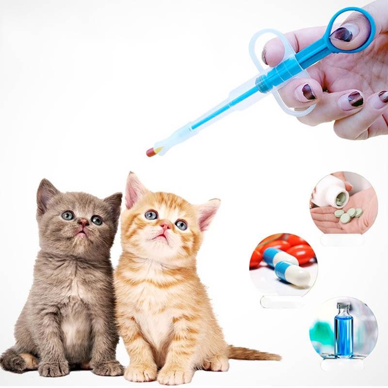 Cat Puppy Pills Dispenser Feeding Kit font b Pet b font medicine dispensers 1 PC Given
