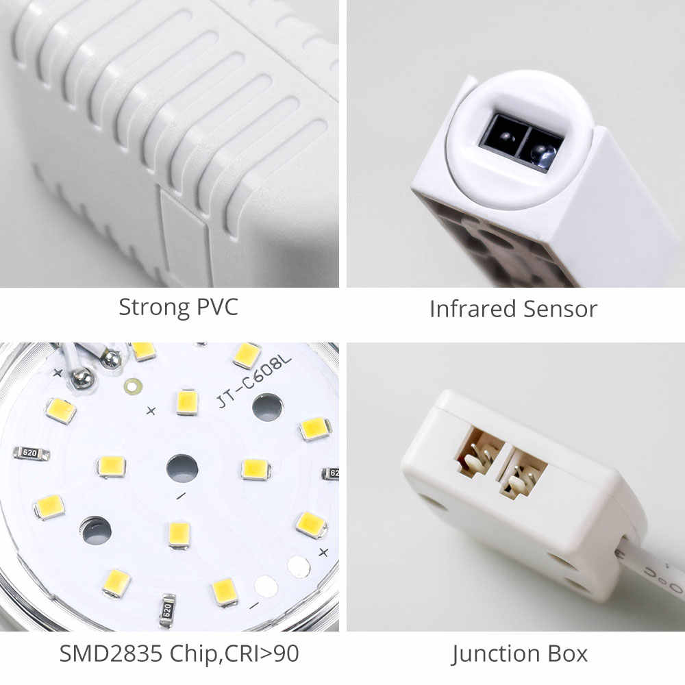 ПВХ умный датчик двери 2,5 Вт датчик движения 12 В постоянного тока под шкаф гардероб датчик переключатель светодиодный свет ночное освещение