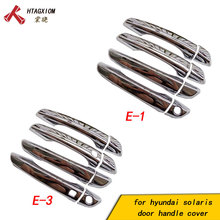 for Hyundai New Solaris  2017 2018 Abs Chrome Door Handle Covers Trim Car Styling Sticker Auto Accessories 8 Pcs free shipping for hyundai solaris 2017 door handle cover abs chrome car accessories new solaris
