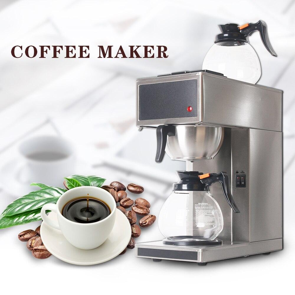 Новый дистилляции кофе машина из нержавеющей стали автоматическое Americano кофе с 2 шт. 1.8L кофейники бытовой коммерческий