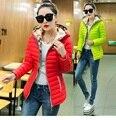 2016 Mulheres Luz de Inverno Fino Wadded jaqueta Com Capuz Brasão Plus Size Casual algodão-acolchoado jacket wadded outwear roupa XXXXXL 5339