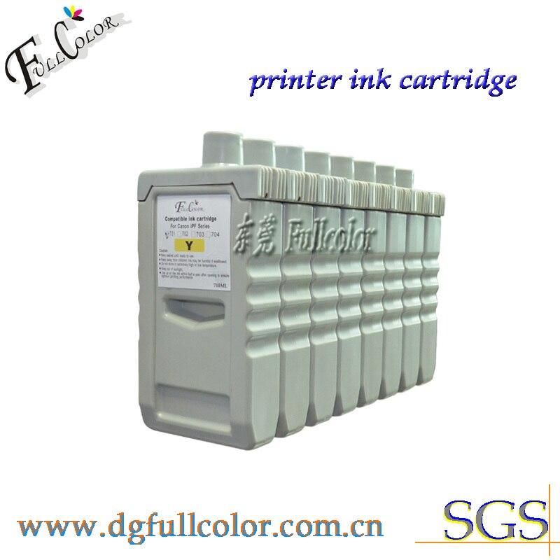 Бесплатная доставка IPF9000S совместимые картриджи оптом PFI-701 резервуар для чернил с пигментными чернилами и чип 8 видов цветов