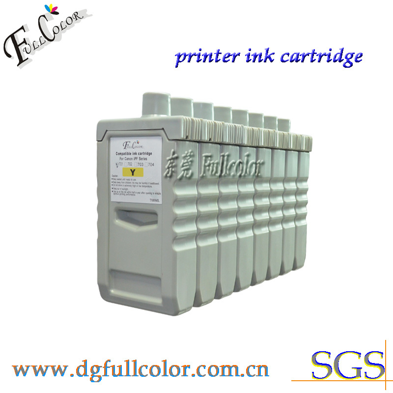 Free shipping IPF9000S compatible bulk ink cartridge PFI-701 ink tank with pigment ink and chip 8color uv flatbed printer 1l ink bottle with air filter with liquid sensor 1l ink sub tank bulk ink system with stirring motor part
