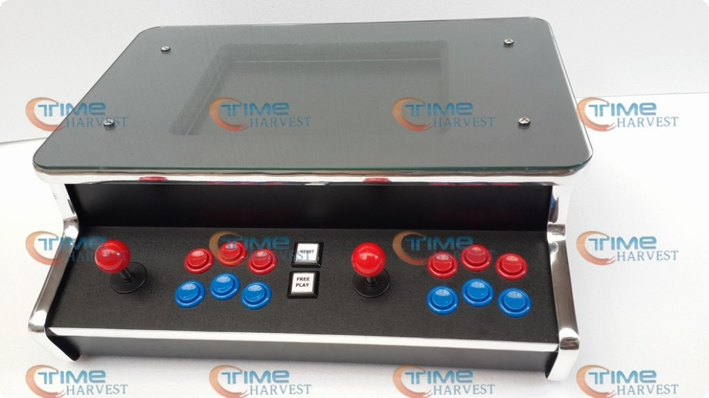 все цены на 15 inch LCD 2 Player Table Top Machine With 400 in 1 Pandora's Box 2 Long shaft joystick American button desktop game cabinet онлайн