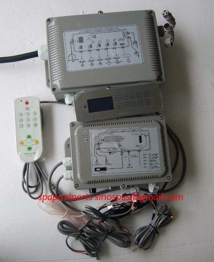 Hot tub controlador GD-7005/GD7005/GD 7005 conjunto completo inclui visor do painel do teclado e caixa de controle