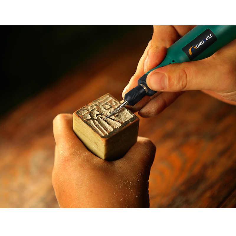 TUNGFULL outil rotatif sans fil USB bois gravure stylo bricolage pour bijoux métal verre sans fil perceuse Mini perceuse électrique