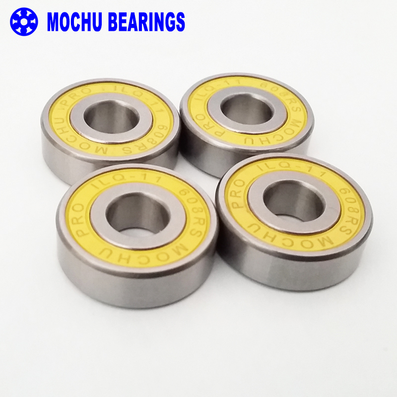 4pcs ILQ-11 608RS 8x22x7 608 MOCHU Skating Bearing Inline Roller Skates Bearings For Skate Shoes Patins Scooter Skateboard