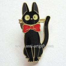 """Черная булавка в форме кошки мягкая эмаль Милая кошка эмблема несколько дизайн значок золотое покрытие """" Милая бабочка"""