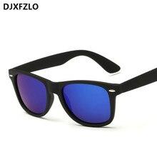 DJXFZLO new unisex reflective vintage sunglasses men brand rivets designer sunglasses ladies fashion sun glasses Oculos de sol
