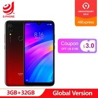 Оригинальная глобальная версия Xiaomi Redmi 7 3 GB ram 32 GB rom Snapdragon 632 Octa Core 12MP 6,26 полный экран 4000 mAh смартфон