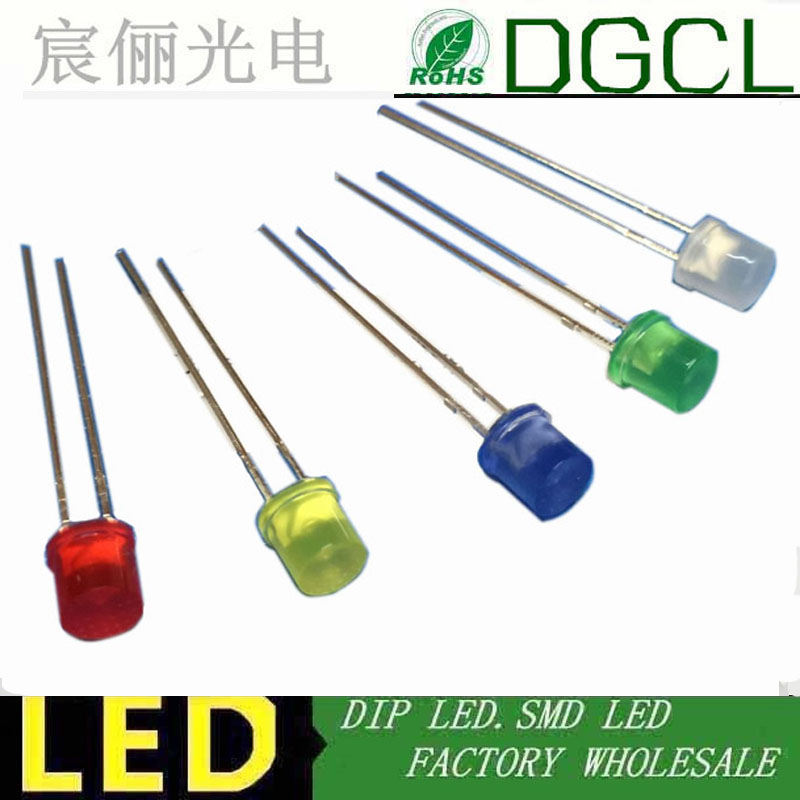 5mm Diffused LED Green Pack of 15