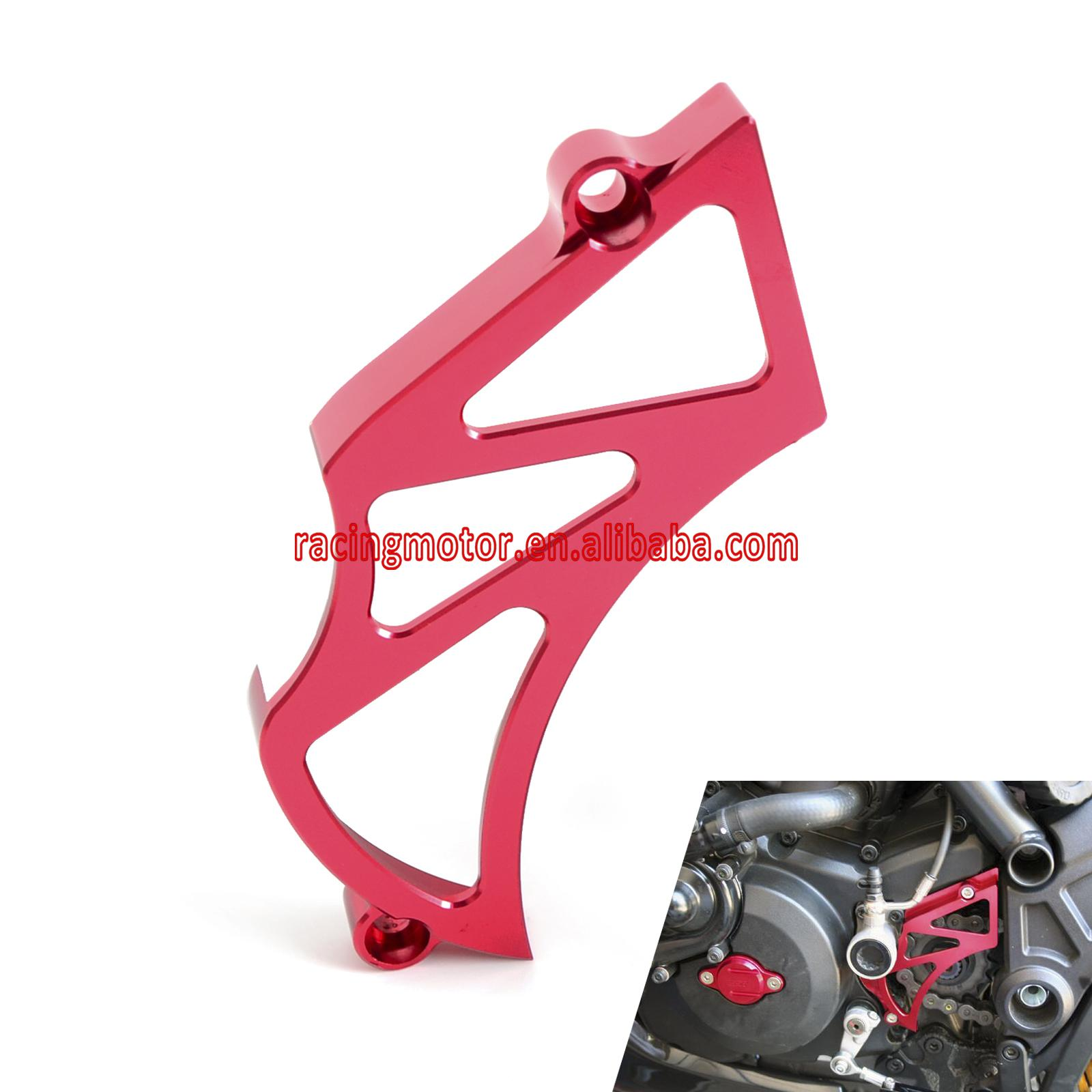 Billet Front Sprocket Cover Chain Guard Cover for Ducati Diavel Carbon 2011 2016 Diavel CROMO All Year 696/796/1100 All Series