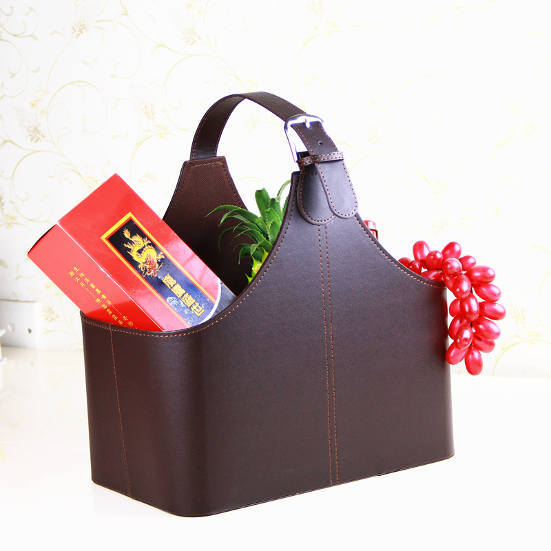 Yapi Shi Mid Grade Leather Gift Basket Hand Of Red Bag Customized Gifts In Storage Baskets From Home Garden On