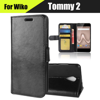EiiMoo Phone Shell For Wiko Tommy 2 Case Luxury Wallet Genuine Leather Flip Cover For Coque