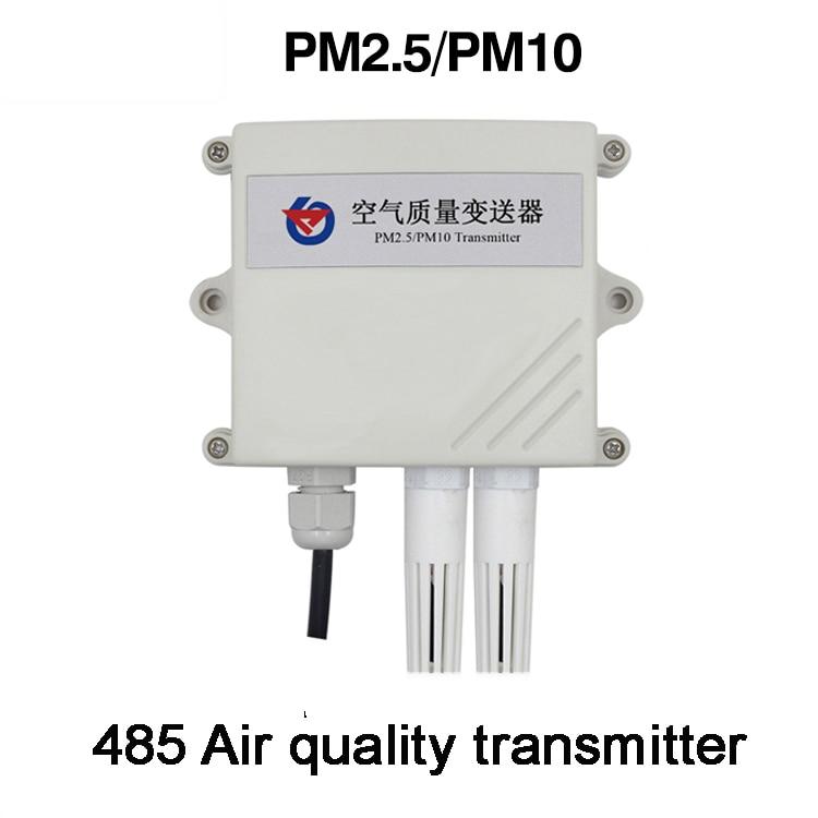 Free shipping PM2.5/PM10 Sensor RS485 modbus Particle detection sensor transmitter 10-30V 0-6000ug/cubic meter 485 Air quality
