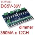 1 шт. 350ma постоянный ток 12 каналов DMX512 декодер постоянный ток DC5V-36V 350MA * 12CH dmx 512 контроллер