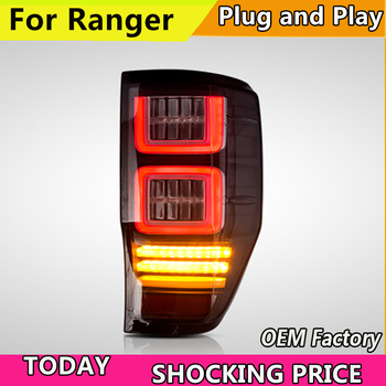 Car led Rear lamp for Car tail light for Ford Ranger LED Taillight 2014 2015 2016 2017 2018 Ranger Tail lamp with black color