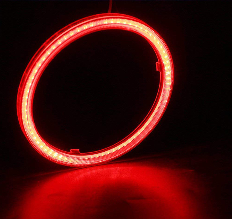 2x Angel Eyes 60mm 70mm 80mm 90mm 100mm 110mm 120mm Halo Ring Car Led Fog Light Motorcycle Daytime Running Light DRL Headlight (10)