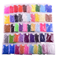 1 lot=10 Packs Jigsaw EVA  49 Colors available 3 mm perler beads mini hama opp Bag packed colorful optional kids Fuse Bead Craft