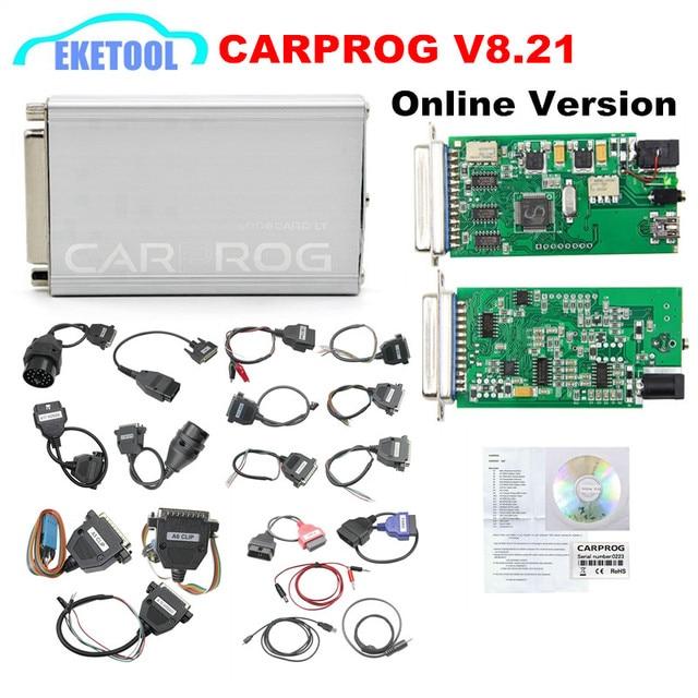 newest carprog v8 21 v10 93 full set 21 adapter auto ecu chip tuning rh aliexpress com ECU Programmer Software Auto Key Programmer