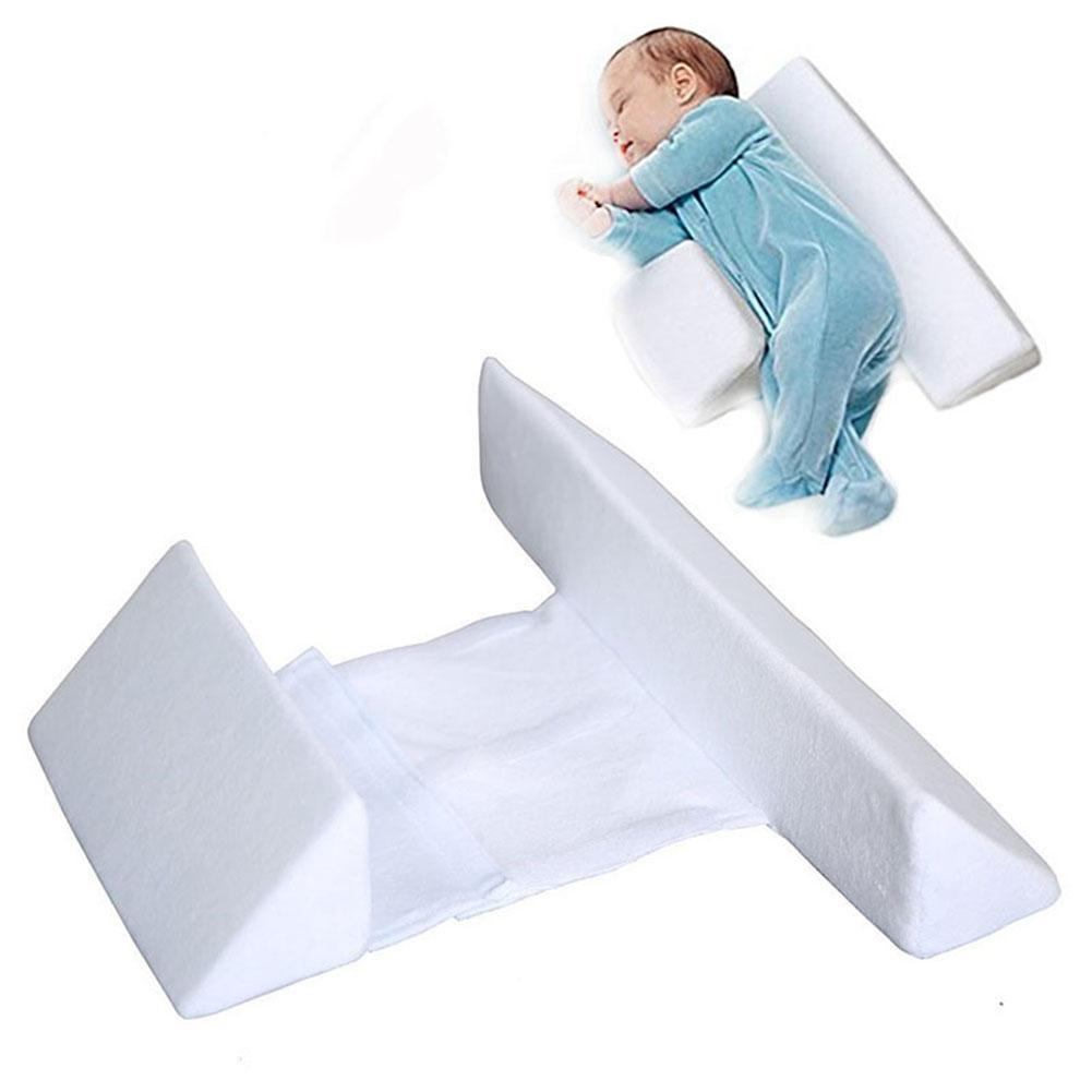 Baby Cotton Concave Side Sleeping Pillow Sleep Positioner Removable Washable Anti-vomiting Milk Protective Pillow