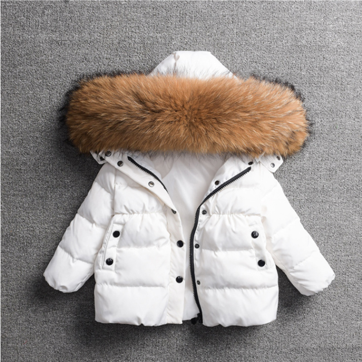 Children's down jacket girls autumn and winter long paragraph cotton clothes baby clothes children's jacket boys down jacket 2017 children winter clothes boys and girls down jacket long 90