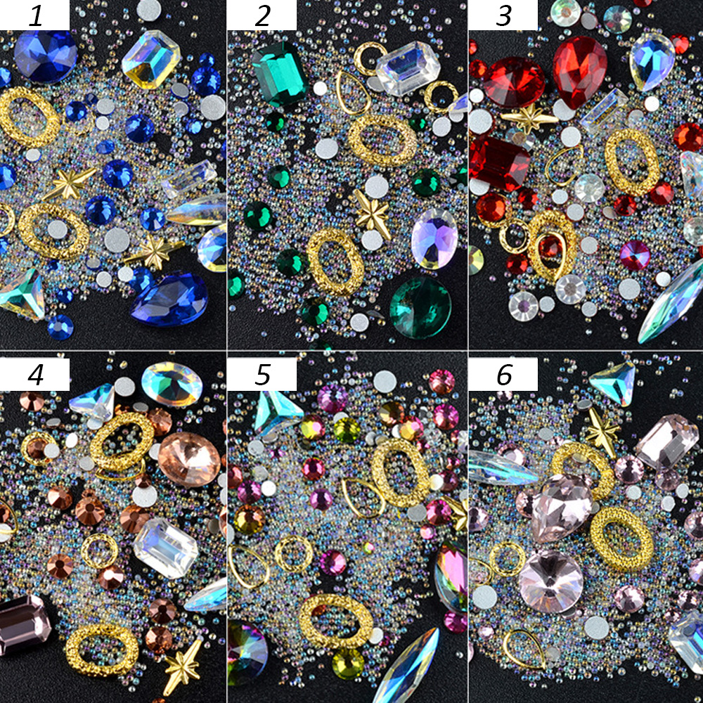 Charming Iron In Straighten In Hair Diamond Crystal Bling Gem Ornaments 48 Pcs