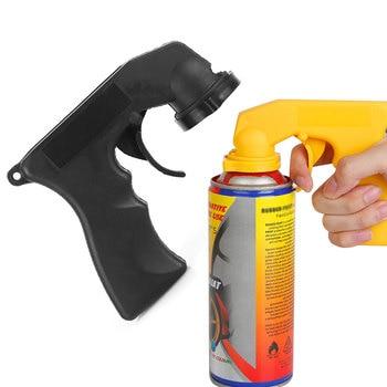 1pcs Auto Car Spray Adaptor Paint Care Aerosol Spray Gun Handle with Full Grip Trigger Locking Collar Car Maintenance