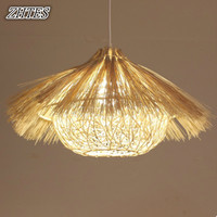 Rattan Chandelier Bamboo Nest House Lamp Bar Restaurant Balcony Southeast Wine Chandelier