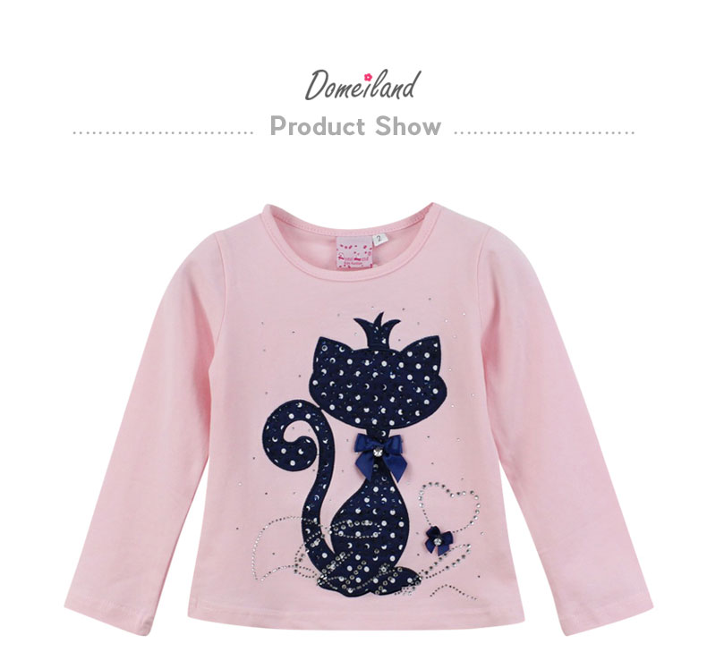 HTB1dMWyPVXXXXXsXpXXq6xXFXXXo - Girl's Stylish Cute Branded Print Rhinestone Cat with Bow, Long Sleeve T-Shirt