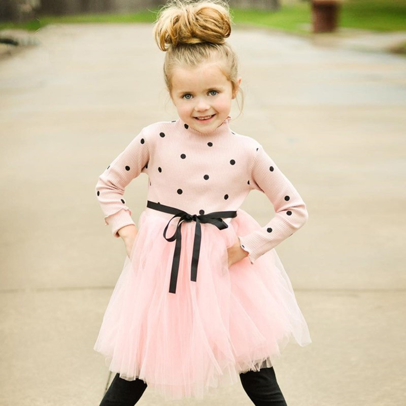 Autumn Winter Long Sleeve Girl Party Frock Baby Children Girl Clothes Casual School Dress for Girls Dresses Kids Girl Clothing girl
